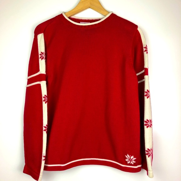 Hanna Andersson Snowflake Rollneck Sweater 160
